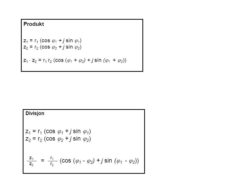 = (cos (1 - 2) + j sin (1 - 2))