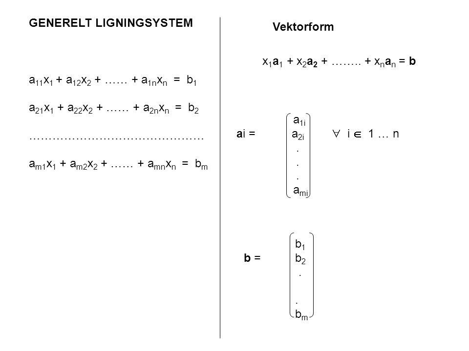 GENERELT LIGNINGSYSTEM