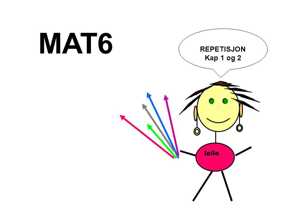 MAT6 REPETISJON Kap 1 og 2 Laila