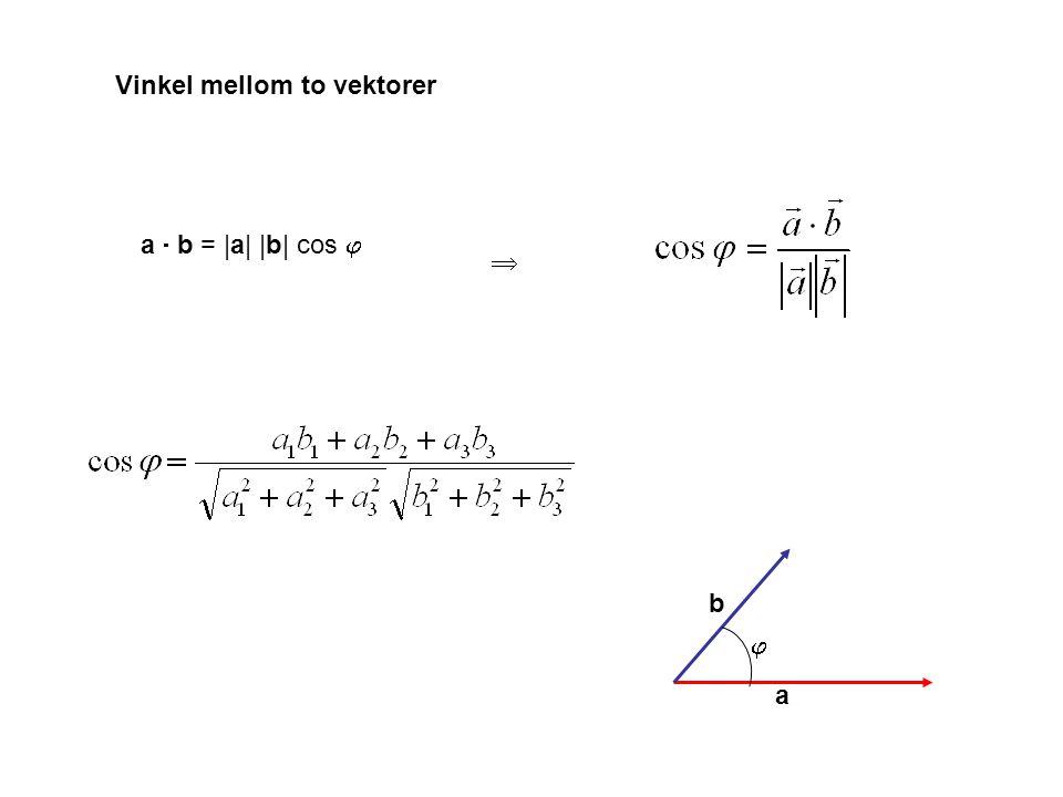 Vinkel mellom to vektorer