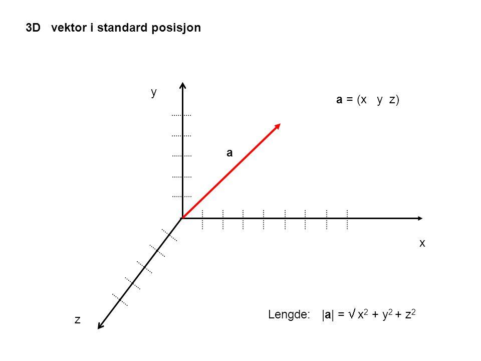 3D vektor i standard posisjon