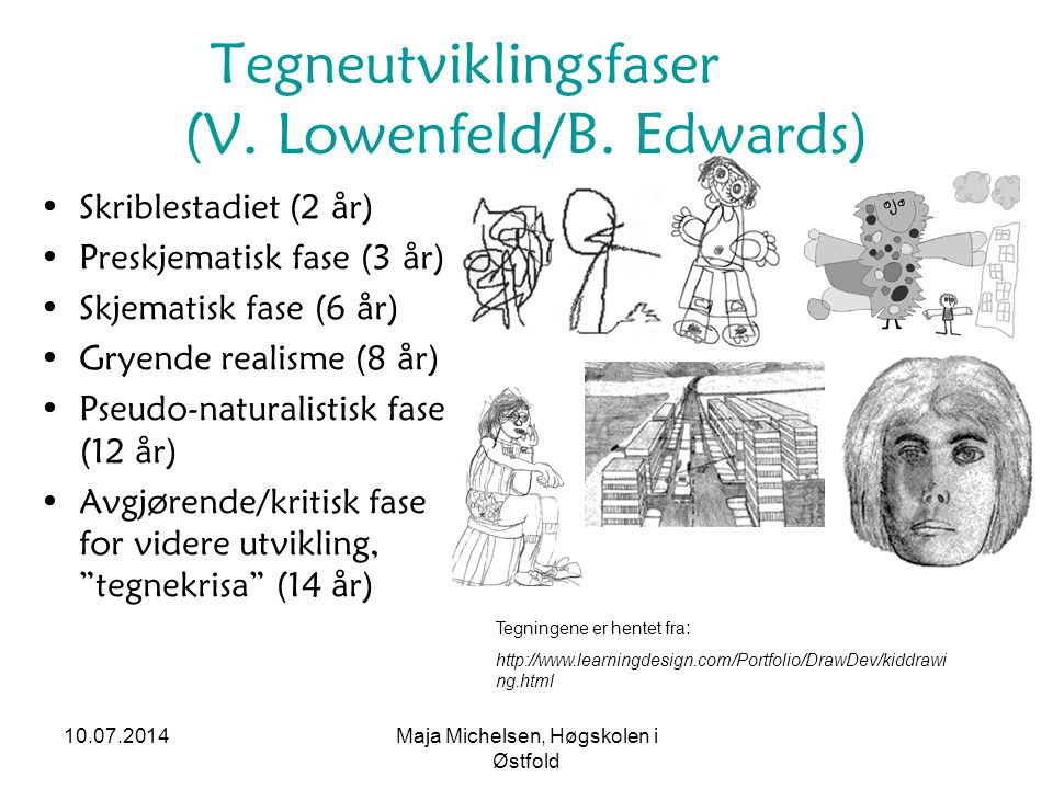 Tegneutviklingsfaser (V. Lowenfeld/B. Edwards)