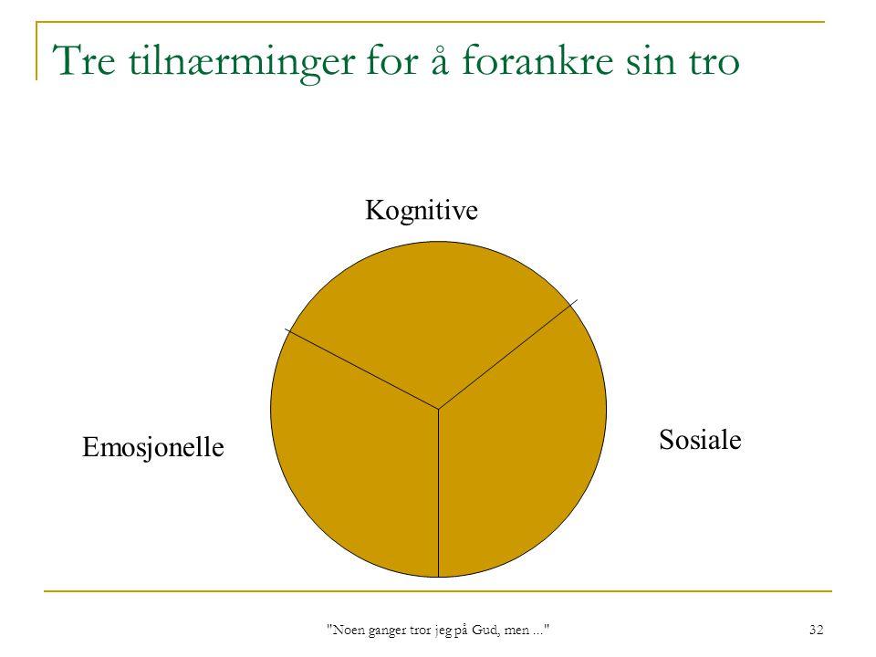 Tre tilnærminger for å forankre sin tro