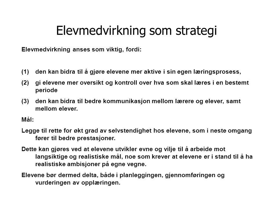 Elevmedvirkning som strategi