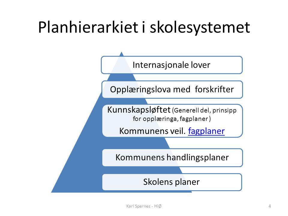 Planhierarkiet i skolesystemet