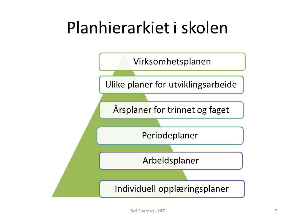 Planhierarkiet i skolen