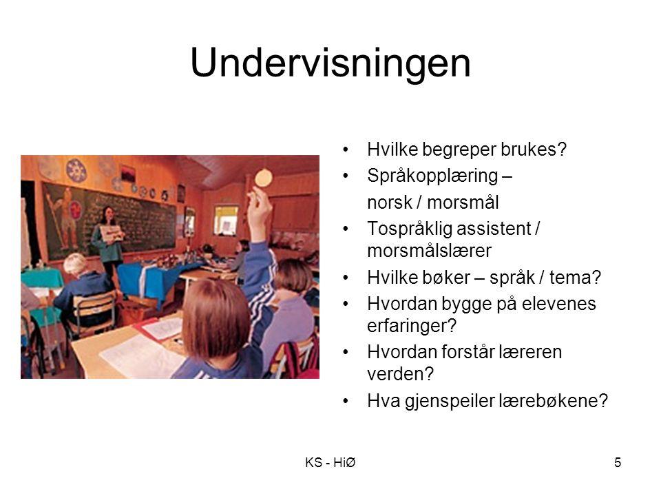 Undervisningen Hvilke begreper brukes Språkopplæring –
