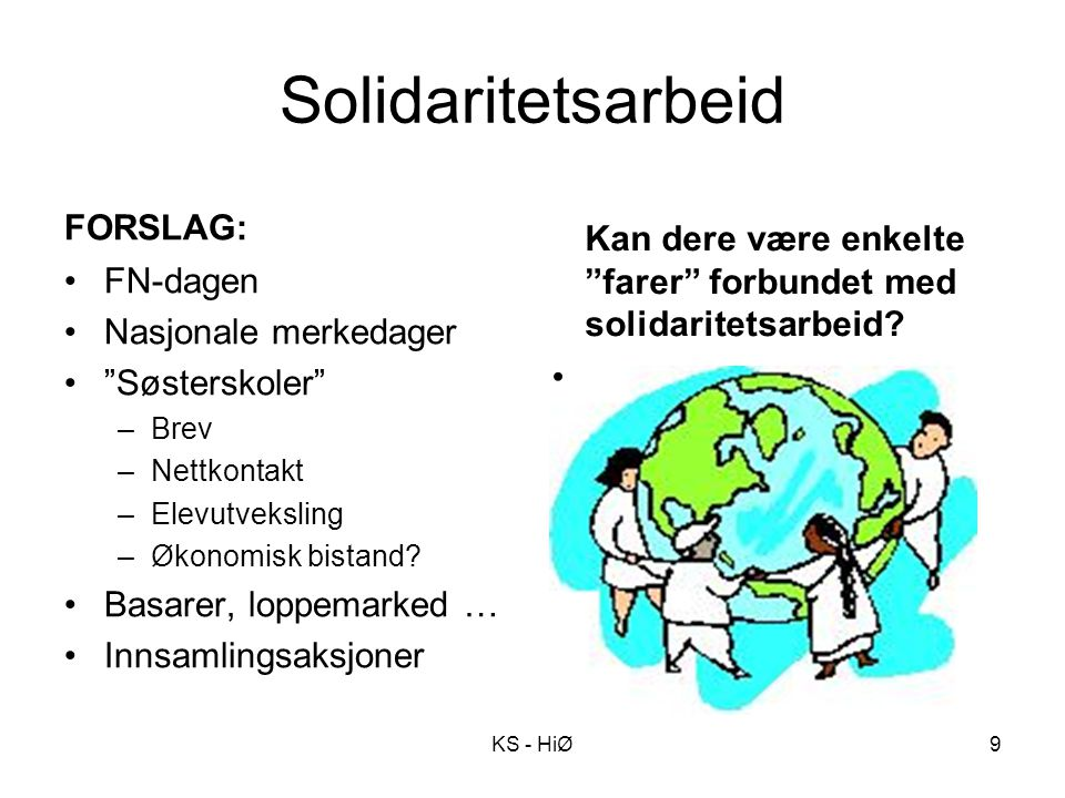 Solidaritetsarbeid FORSLAG: