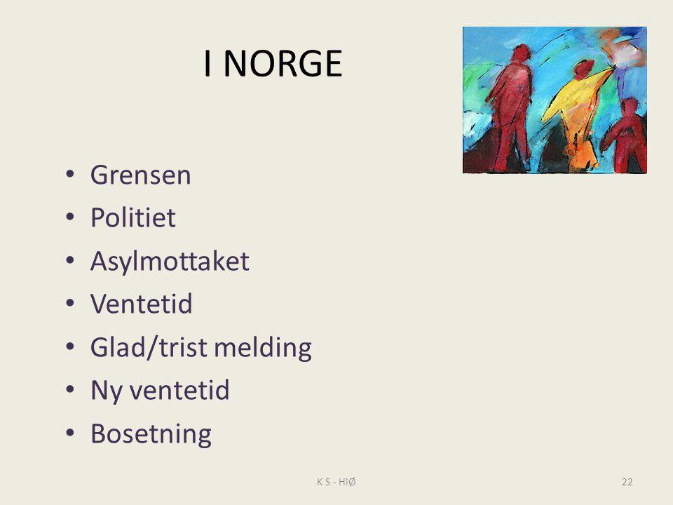 I NORGE Grensen Politiet Asylmottaket Ventetid Glad/trist melding