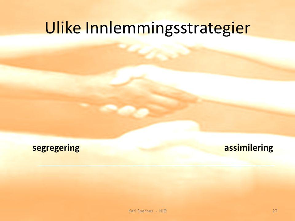 Ulike Innlemmingsstrategier