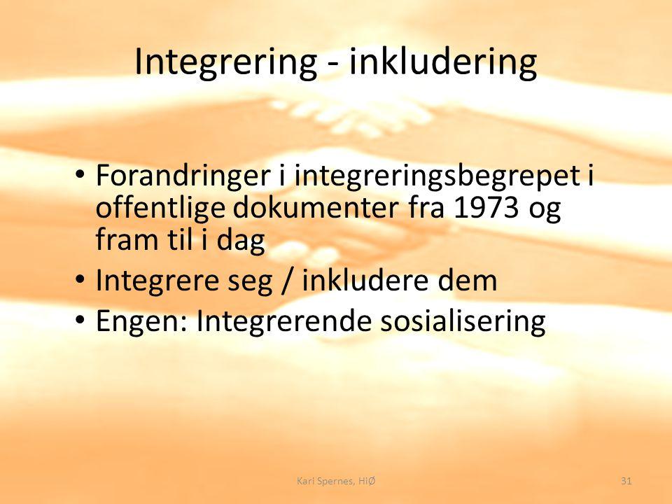 Integrering - inkludering
