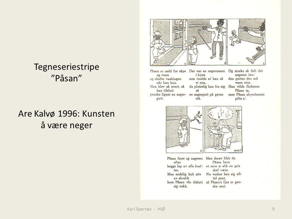 Tegneseriestripe Påsan Are Kalvø 1996: Kunsten å være neger