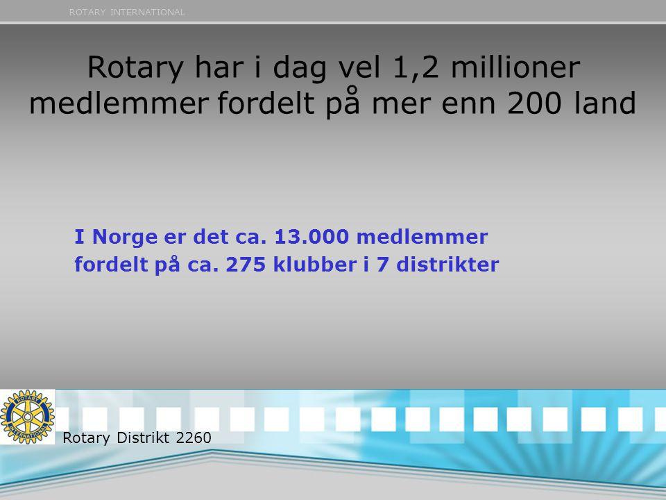 Rotary har i dag vel 1,2 millioner medlemmer fordelt på mer enn 200 land