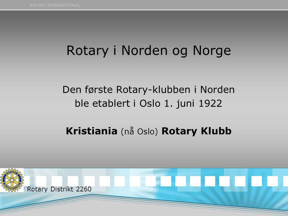 Rotary i Norden og Norge