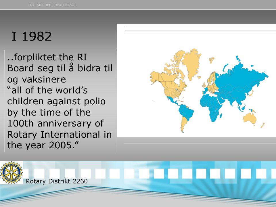 I 1982 ..forpliktet the RI Board seg til å bidra til og vaksinere