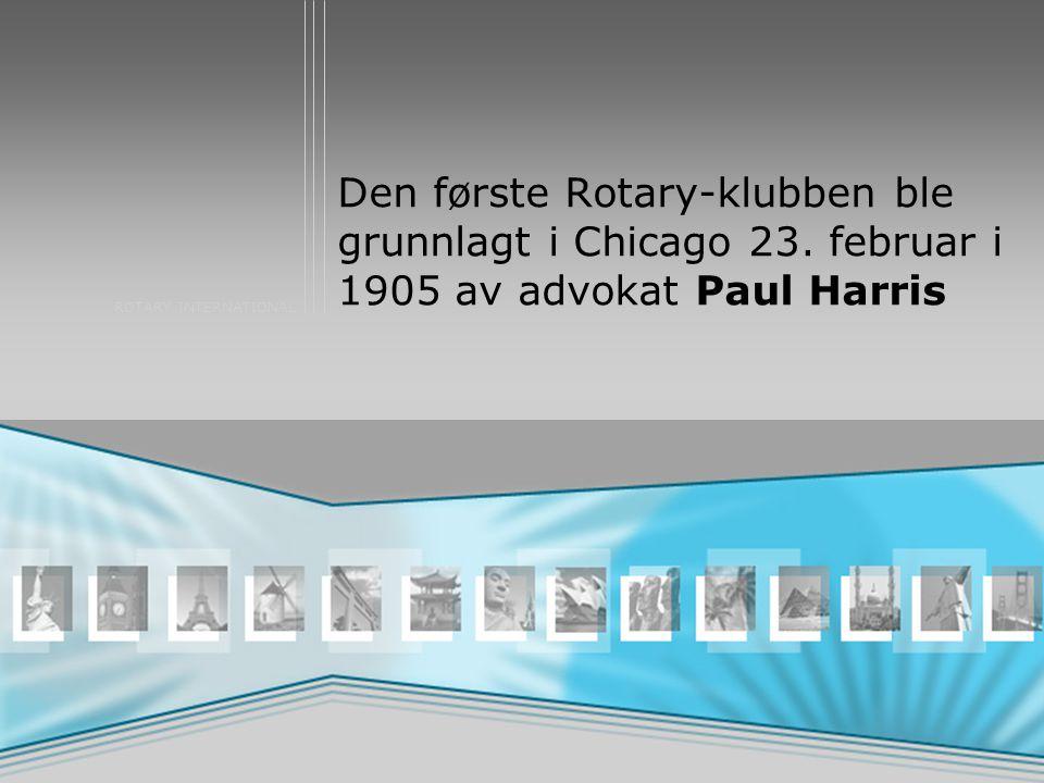 Den første Rotary-klubben ble grunnlagt i Chicago 23
