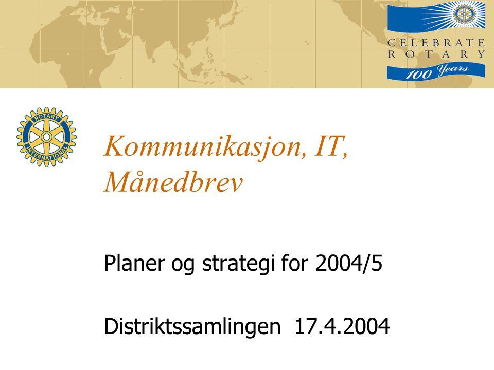 Kommunikasjon, IT, Månedbrev