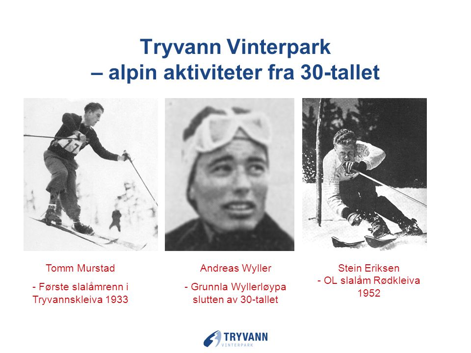 Tryvann Vinterpark – alpin aktiviteter fra 30-tallet
