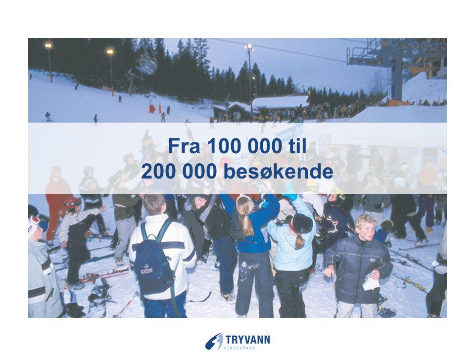 Fra 100 000 til 200 000 besøkende