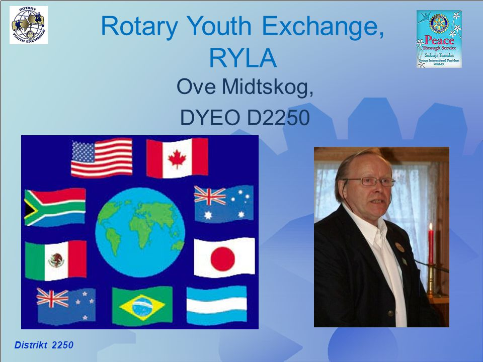 Rotary Youth Exchange, RYLA Ove Midtskog, DYEO D2250 Distrikt 2250