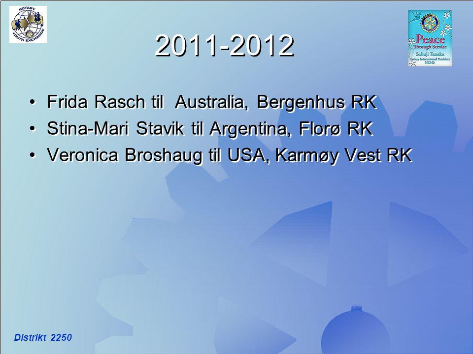 2011-2012 Frida Rasch til Australia, Bergenhus RK