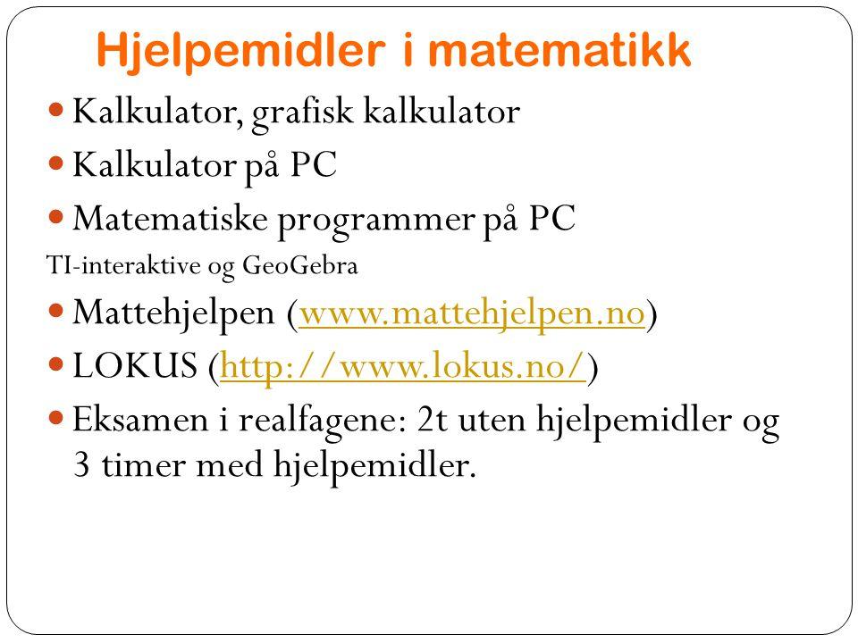 Hjelpemidler i matematikk