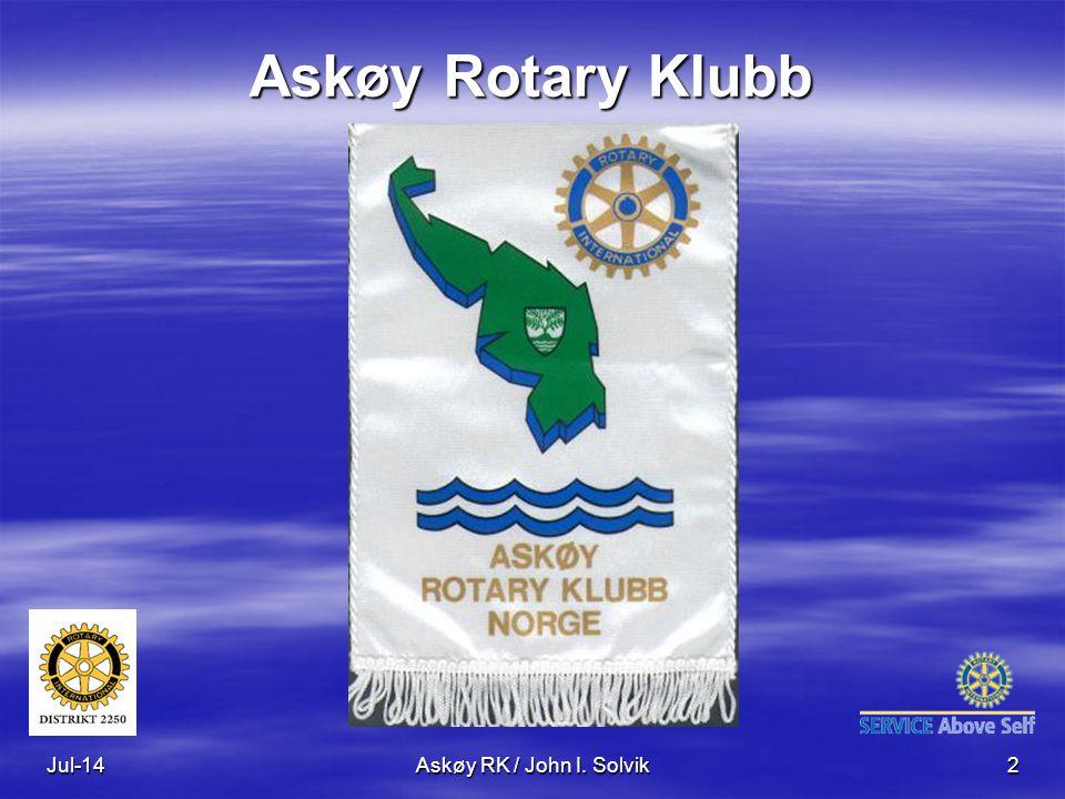 Askøy Rotary Klubb Apr-17 Askøy RK / John I. Solvik