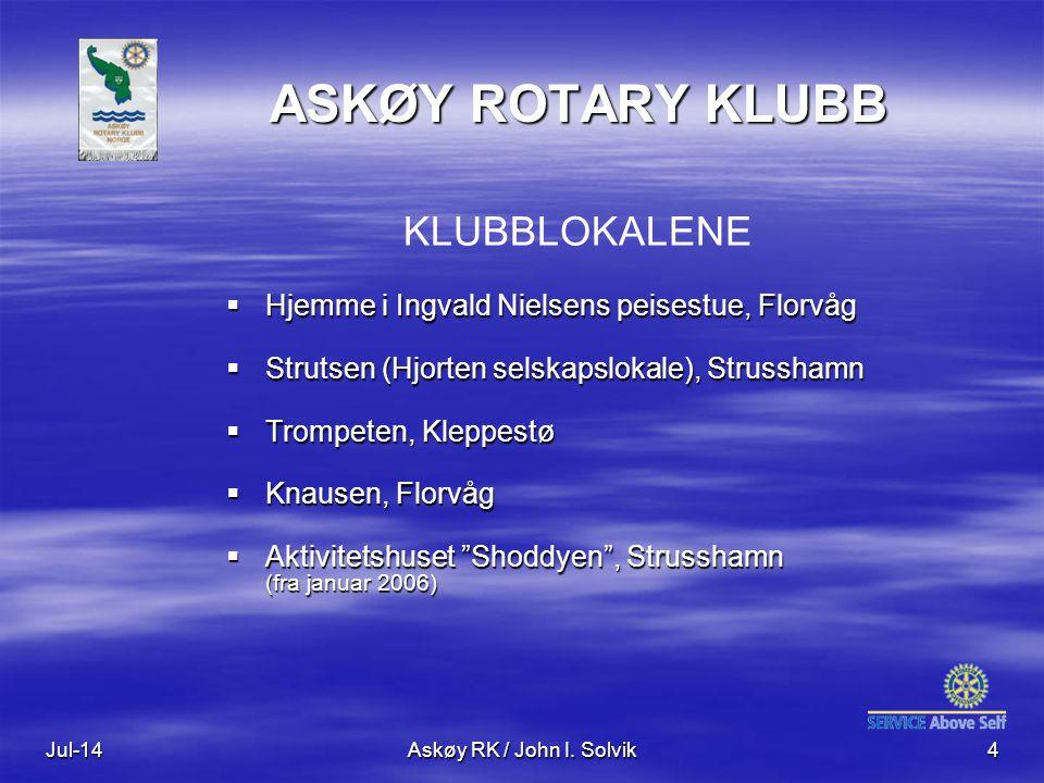 ASKØY ROTARY KLUBB KLUBBLOKALENE