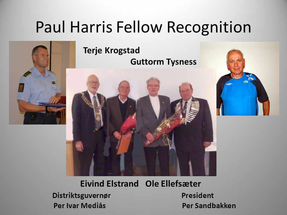 Paul Harris Fellow Recognition