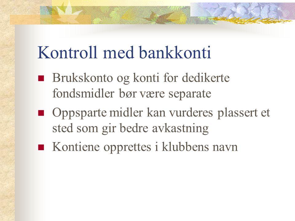 Kontroll med bankkonti