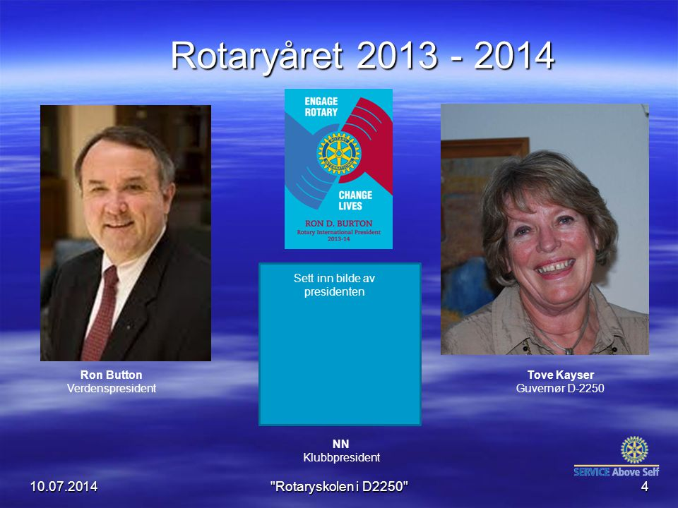 Rotaryåret 2013 - 2014 04.04.2017 Rotaryskolen i D2250