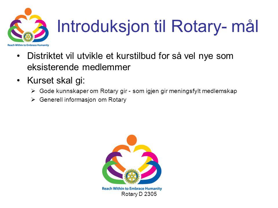 Introduksjon til Rotary- mål