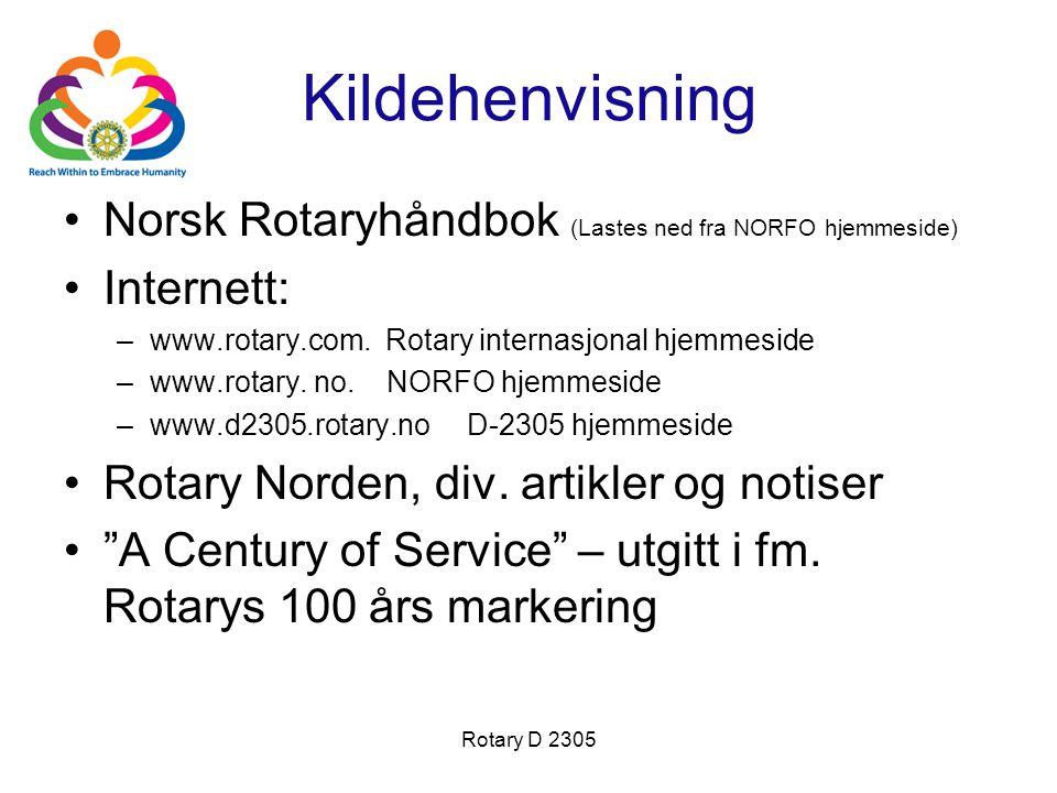 Kildehenvisning Norsk Rotaryhåndbok (Lastes ned fra NORFO hjemmeside)