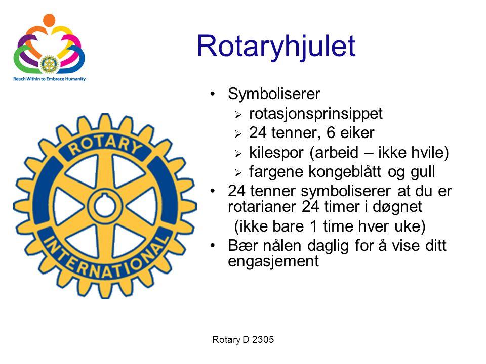 Rotaryhjulet Symboliserer rotasjonsprinsippet 24 tenner, 6 eiker