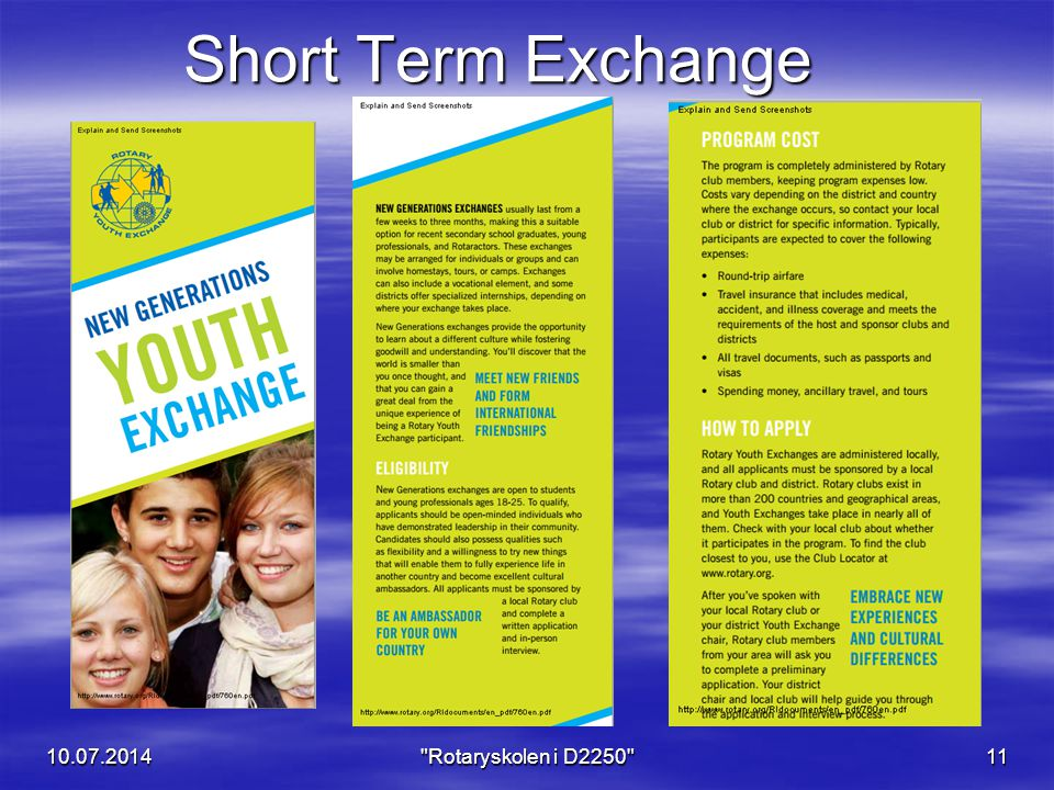 Short Term Exchange 04.04.2017 Rotaryskolen i D2250