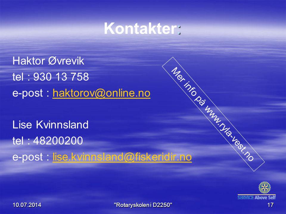 Mer info på www.ryla-vest.no