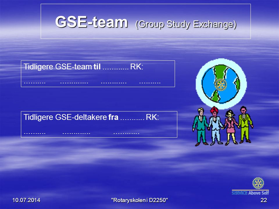 GSE-team (Group Study Exchange)