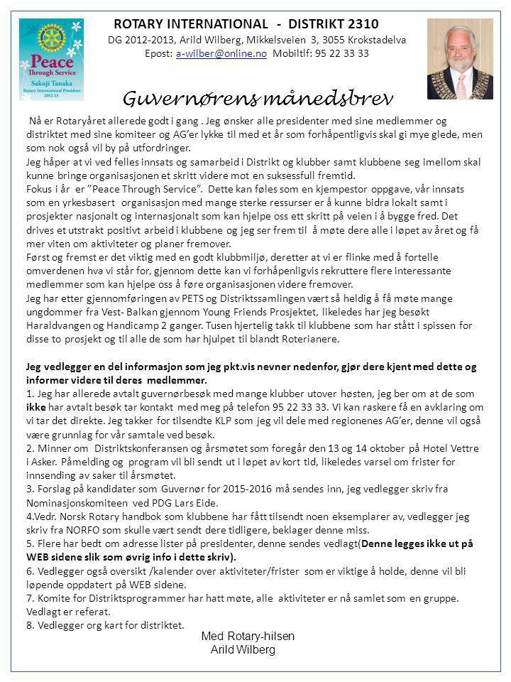 Guvernørens månedsbrev
