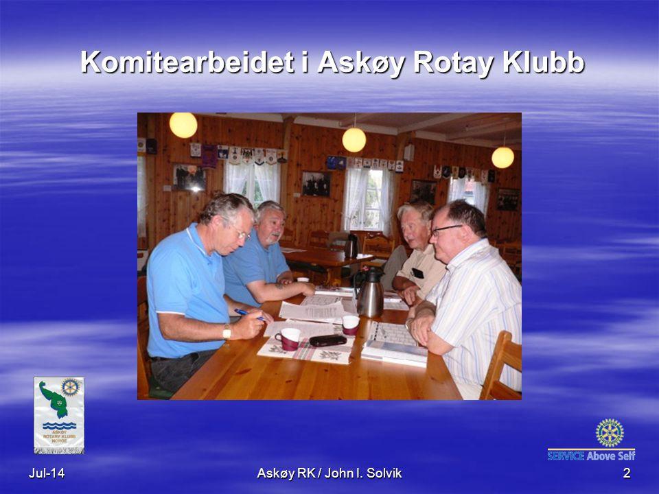 Komitearbeidet i Askøy Rotay Klubb