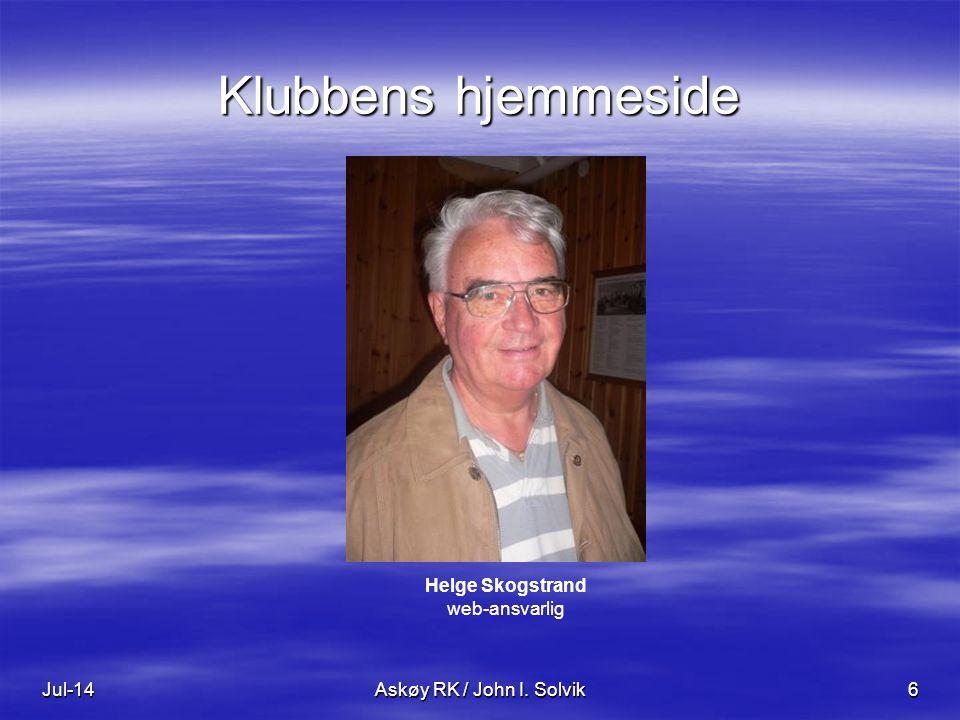 Helge Skogstrand web-ansvarlig