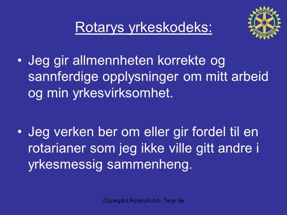 Oppegård Rotaryklubb - Terje Ilje