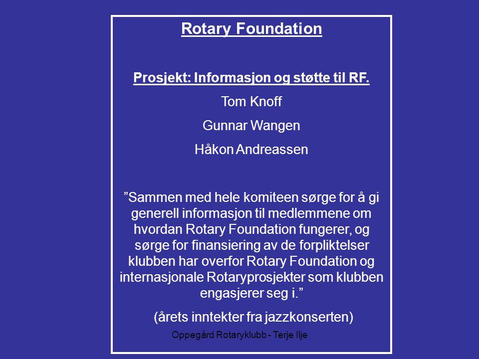 Prosjekt: Informasjon og støtte til RF.