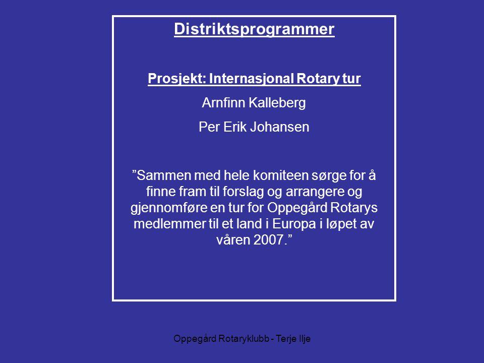 Prosjekt: Internasjonal Rotary tur
