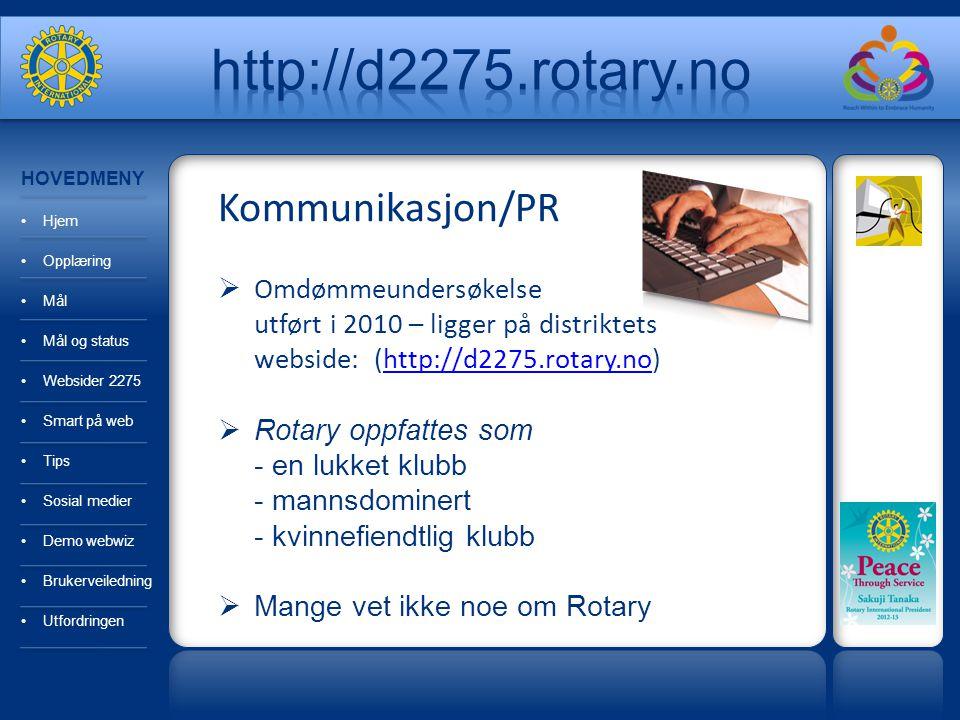 http://d2275.rotary.no Kommunikasjon/PR