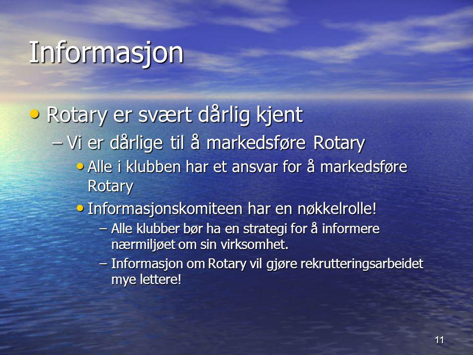 Informasjon Rotary er svært dårlig kjent