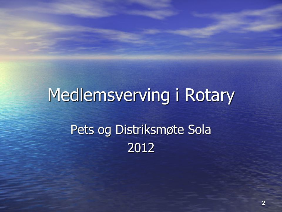 Medlemsverving i Rotary