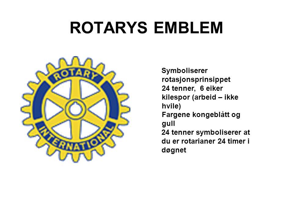ROTARYS EMBLEM Symboliserer rotasjonsprinsippet 24 tenner, 6 eiker