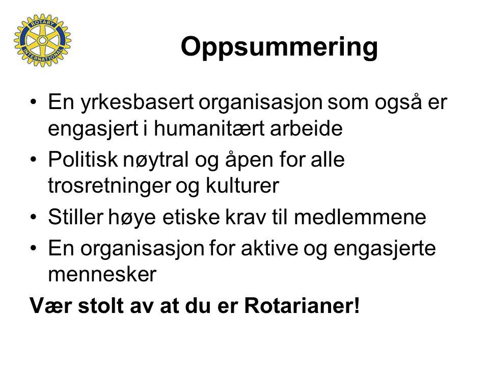Oppsummering En yrkesbasert organisasjon som også er engasjert i humanitært arbeide. Politisk nøytral og åpen for alle trosretninger og kulturer.