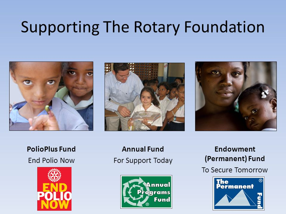 Supporting The Rotary Foundation