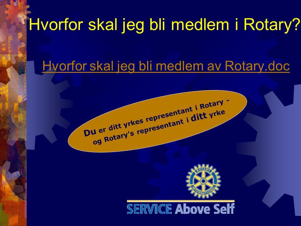 Hvorfor skal jeg bli medlem i Rotary